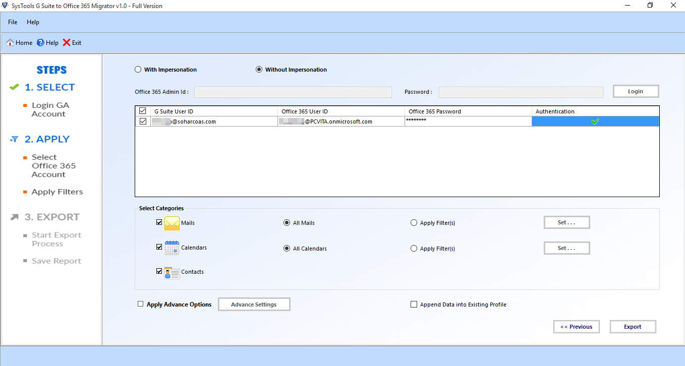 G Suite To Office 365 Migration Tool