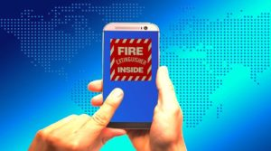 Fire Extinguisher for Cell Phone Battery