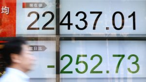 Japan's Nikkei Falls Down Into A Falling Shares Market