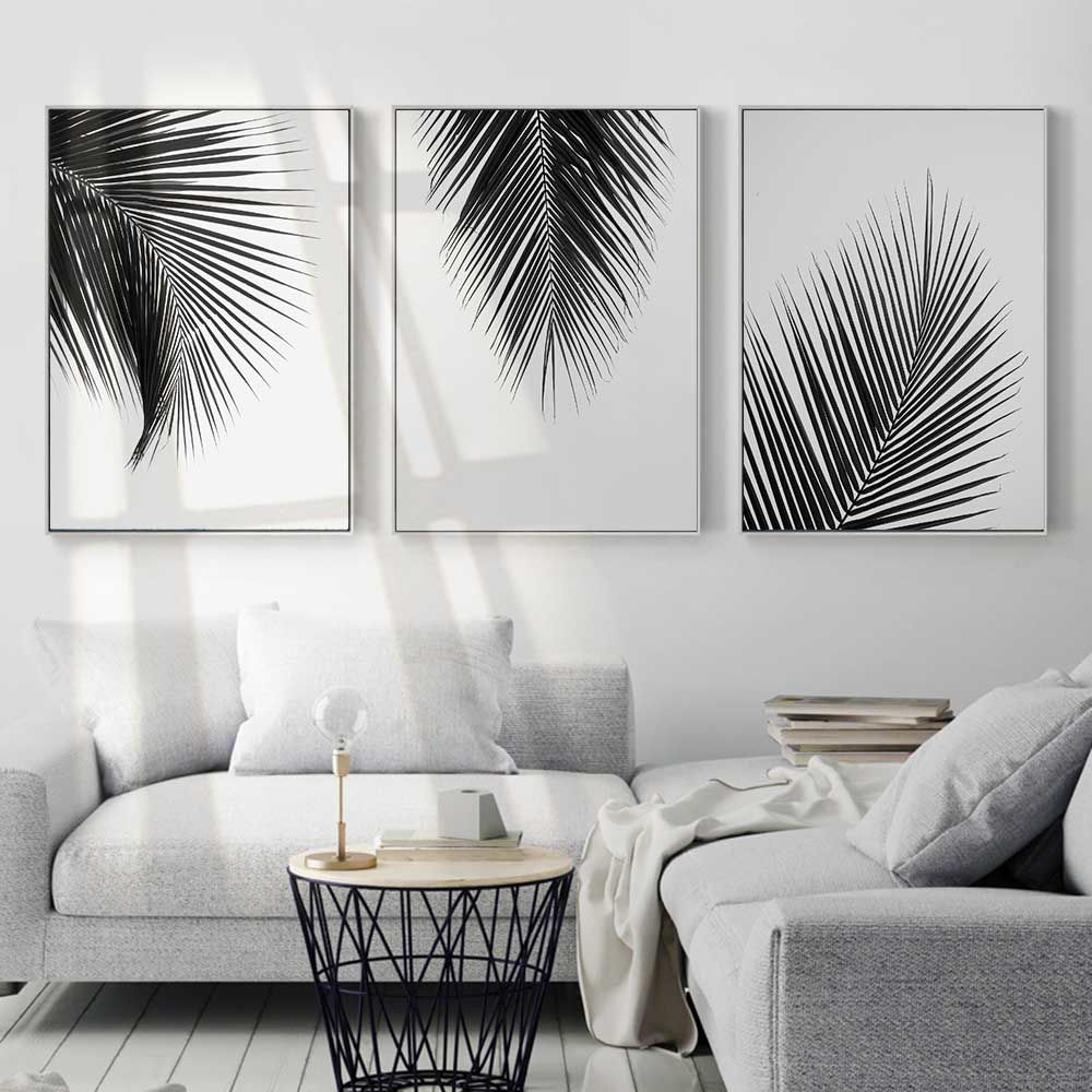 Living Room with Canvas Prints