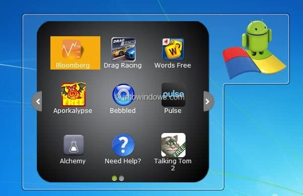 Android Apps Run In Windows