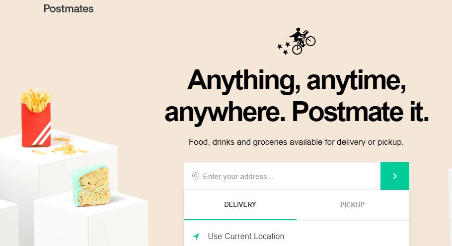 Using Postmates Promo Code When Ordering Food