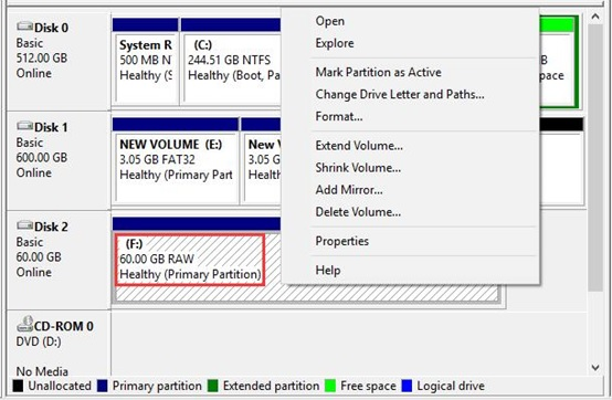 RAW Drives in Windows_2