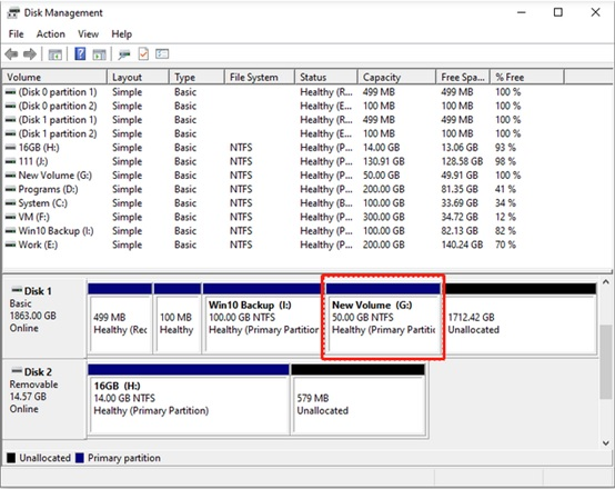 How to partition a hard drive in Windows 10-4